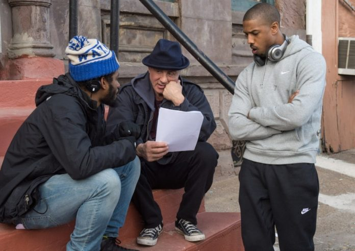 Sylvester Stallone Michael B. Jordan and Ryan Coogler in Creed