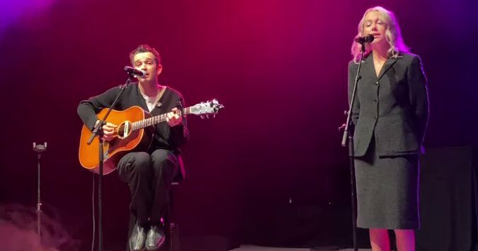 Watch Phoebe Bridges and the 1975's Matty Healy Perform 'Jesus Christ 2005 God Bless America'